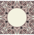 Oriental pattern in brown colors vector