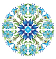 Blue ottoman serial patterns twenty four vector