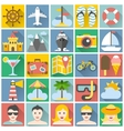 Summer icons set flat design vacation and beach vector