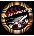 Skateboard in circle logo design vector