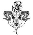 Tattoo skull goat vector