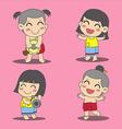 Thai children 2 vector