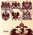 Vintage heraldry emblems vector