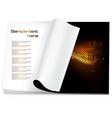 Blank magazine vector