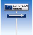 Eu flag european union traffic board vector