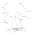 Boat sketch vector