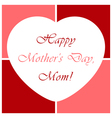 Mothers day greeting card with heart vector