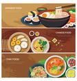Asia street food web banner vector