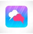Speech cloud icon vector