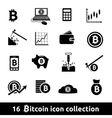 16 bitcoin icon collection vector