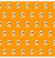 Seamless halloween skull pattern with bones vector