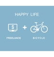 Freelance and bicycle infographic vector