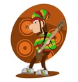 Reggae dread lock bass player vector
