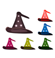 Various colors of lovely witch hat vector