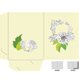 Template for folder with flowers vector