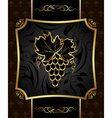 Golden frame with grapevine - vector