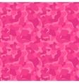 Seamless camouflage pattern for girls tiled vector