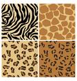 Set of animal patterns vector