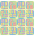 Seamless abstract pattern in pastel colors vector