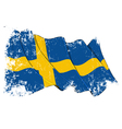 Sweden flag grunge vector