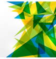 Abstract geometric brazil flag vector