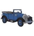 Blue vintage cabriolet vector
