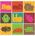 Zoo animals icons vector