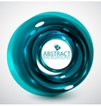 Abstract blue glossy swirl background vector