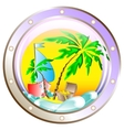 Background on vacation at sea vector