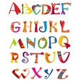 Alphabet design in a colorful style vector