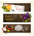 Herbs and spices banners horizontal vector