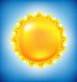 Sun with sky vector