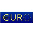 Euro flag european union sign vector