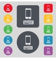 Computer keyboard and smatphone icon set colourful vector