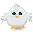 Cartoon gray sparrow vector