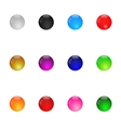 Collection of colorful glossy spheres set 1 vector
