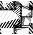 Black and white rhythmic textured endless pattern vector