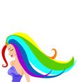 Rainbow girl vector