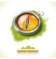 Camping symbol compass vector