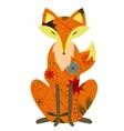 Retro fox vector