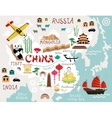 Maps of china vector