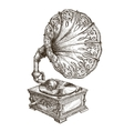 Gramophone logo design template music or vector