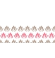 Pink and brown tulips stripes horizontal seamless vector
