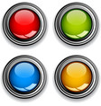 Blank chrome glossy buttons vector