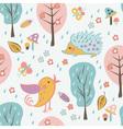 Cartoon forest seamless pattern vector