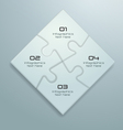 White jigsaw puzzle infographics design vector