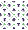 Seamless watercolor pattern with pansies on the vector