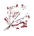 Watercolor branch vector