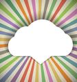 Speech cloud template vector