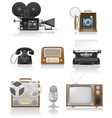 Vintage and old art equipment 01 vector